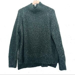 H&M | Forest Green Chunky Mock Neck Sweater